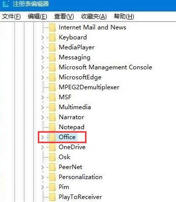 HKEY_CURRENT_USER\Software\Microsoft\Office